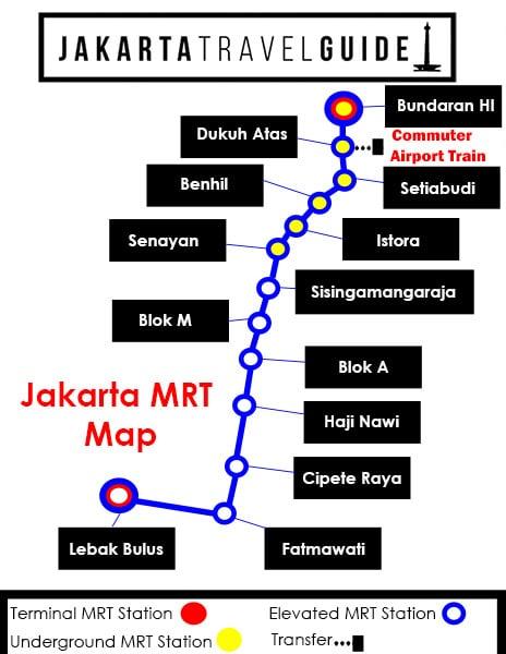 Jakarta Mrt Map Jakarta Travel Guide