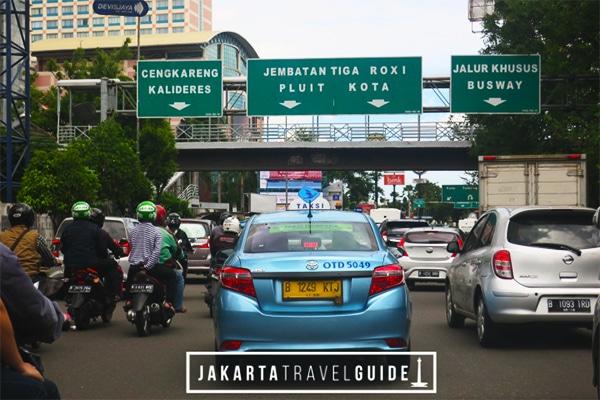 Blue Bird Taxi in Jakarta