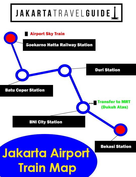 Jakarta Airport Train Map