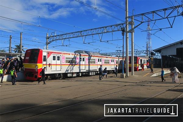 KRL Train arriving at Stasiun Bogor.