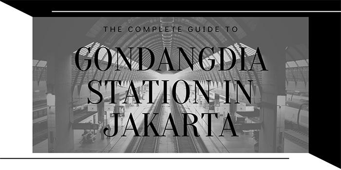 Gondangdia Station in Jakarta