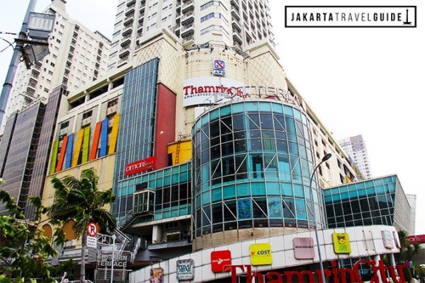 The facade of Thamrin City Mall