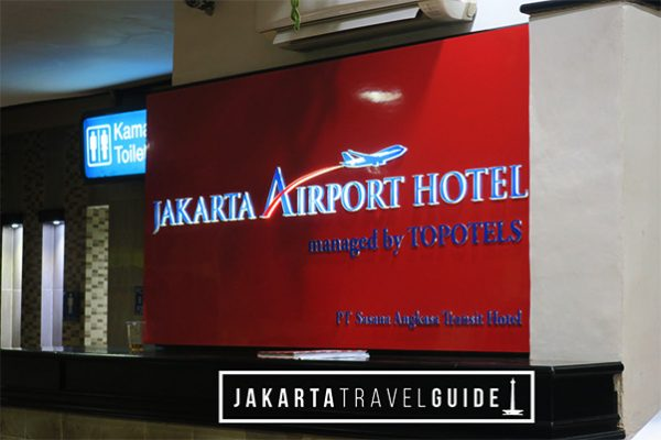 Look for this sign in Jakarta Airport Terminal 2 to find the hotel.